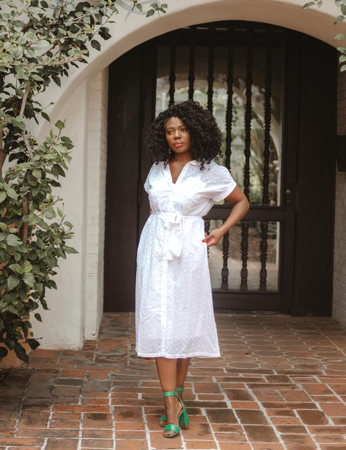 white day dress for spring