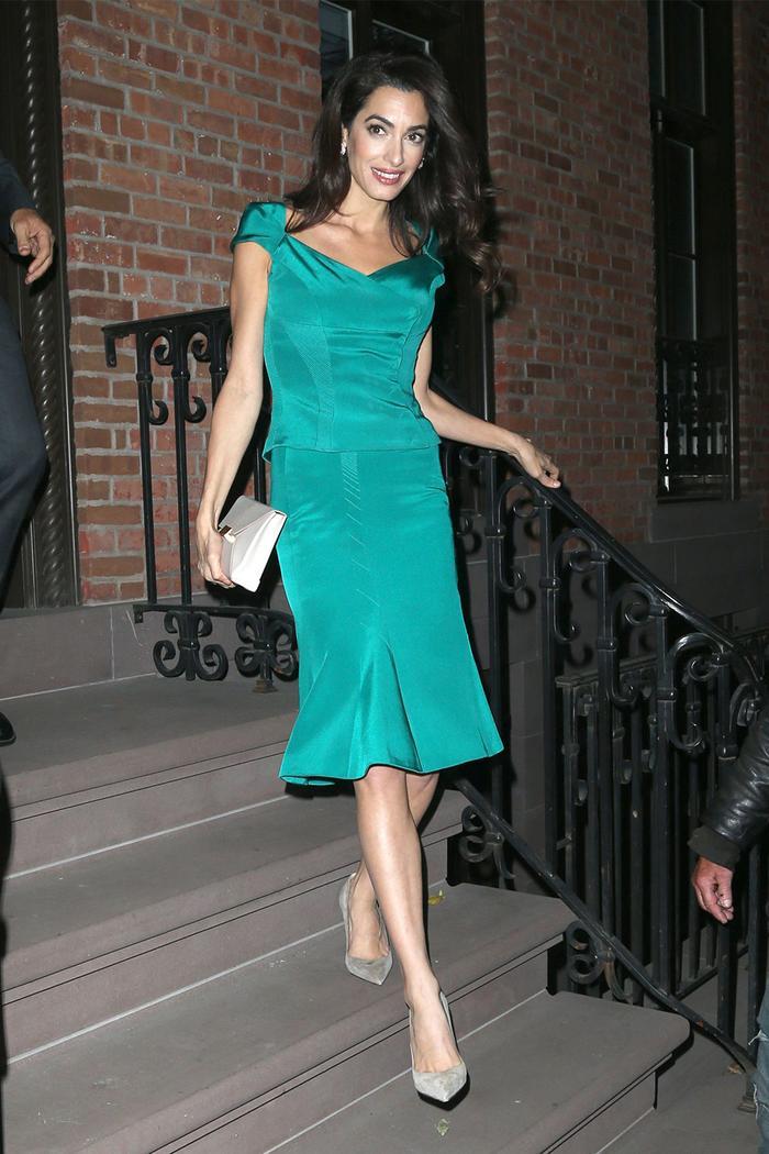 Amal Clooney Turquoise Dress