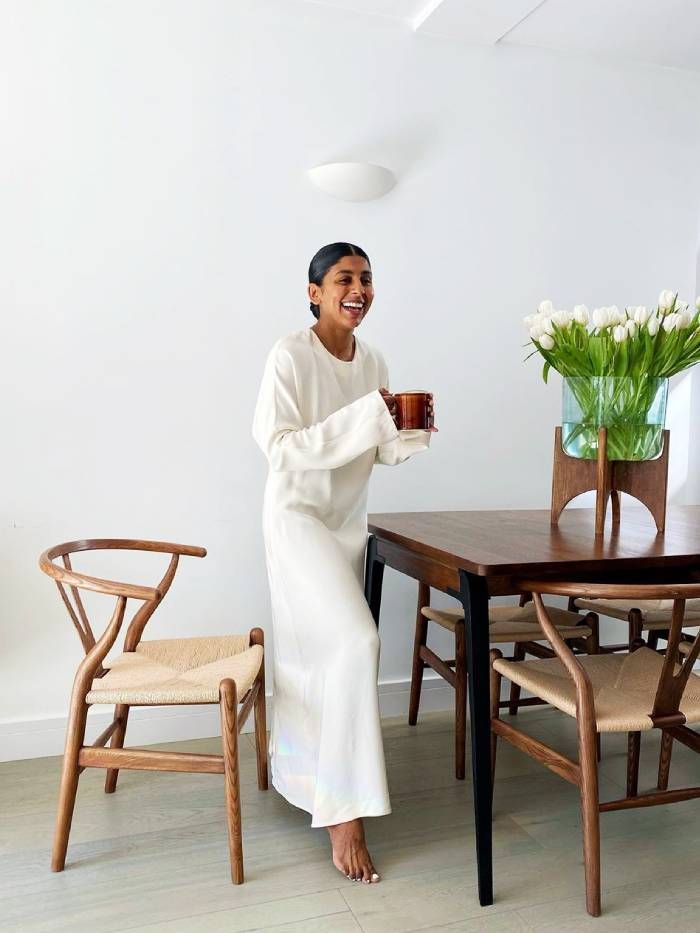 Throw-on dresses: Monikh wears white LA Collection dress