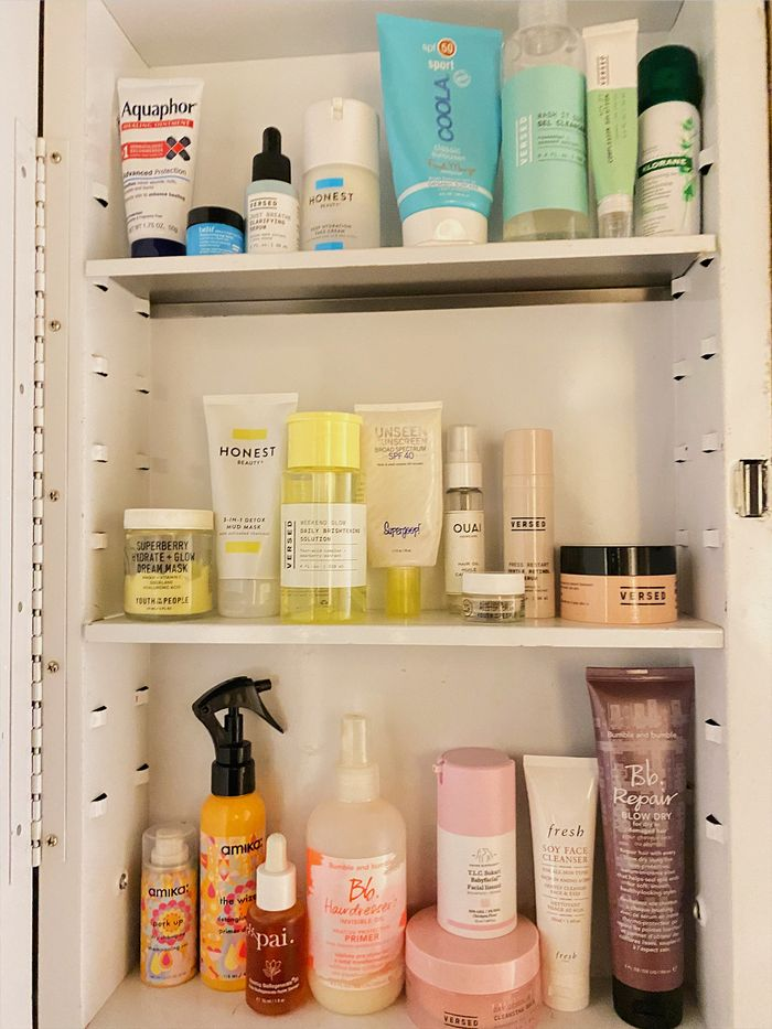 color coordinated beauty products