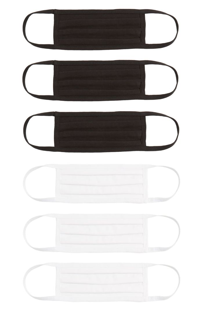 Nordstrom 6-Pack Pleated Cotton Adult Face Masks