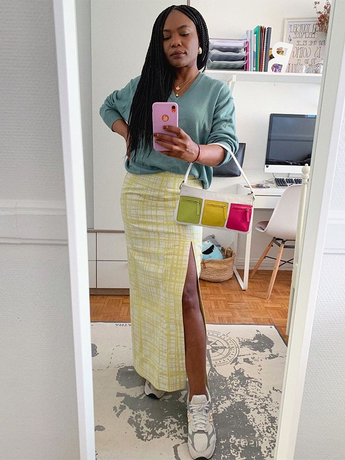 Easy Outfits For Spring: Maxi Skirt + Knit