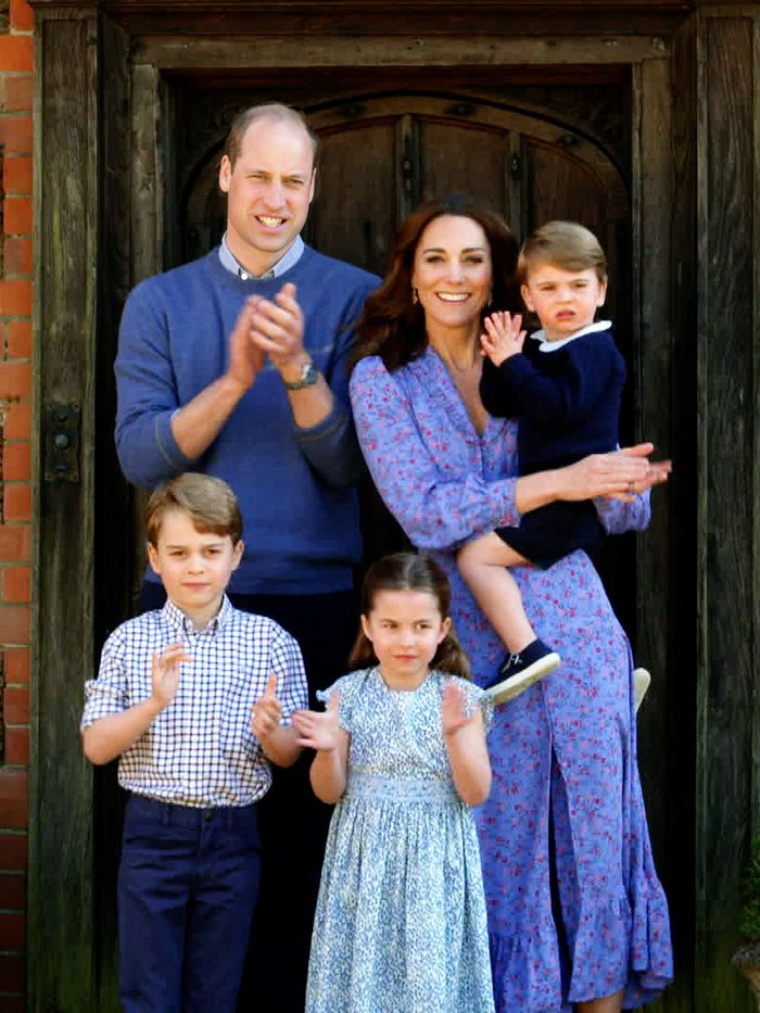 Kate Middleton Wearing a Ghost Floral Dress in Family Photo