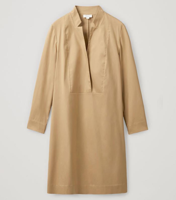 COS Lapel Neck Dress