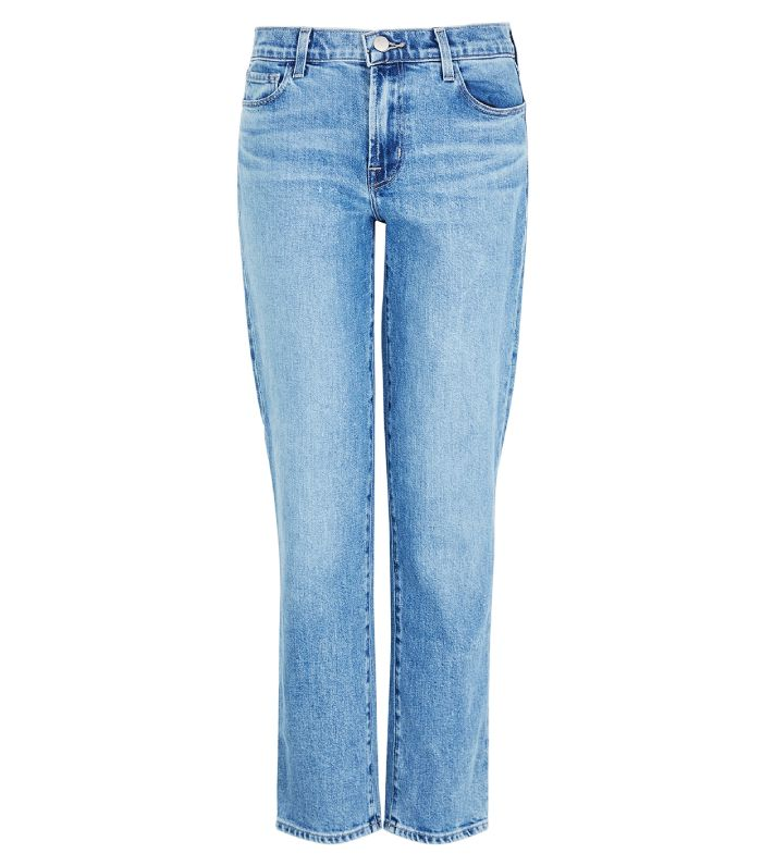 J Brand Adele Blue Straight-Leg Jeans