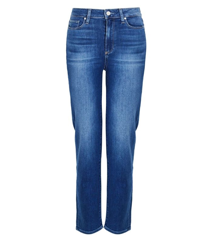 Paige Hoxton Ankle Dark Blue Straight-Leg Jeans