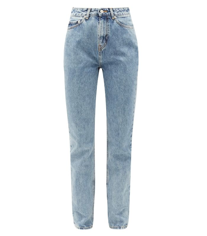 Ganni Washed-Denim Boyfriend Jeans
