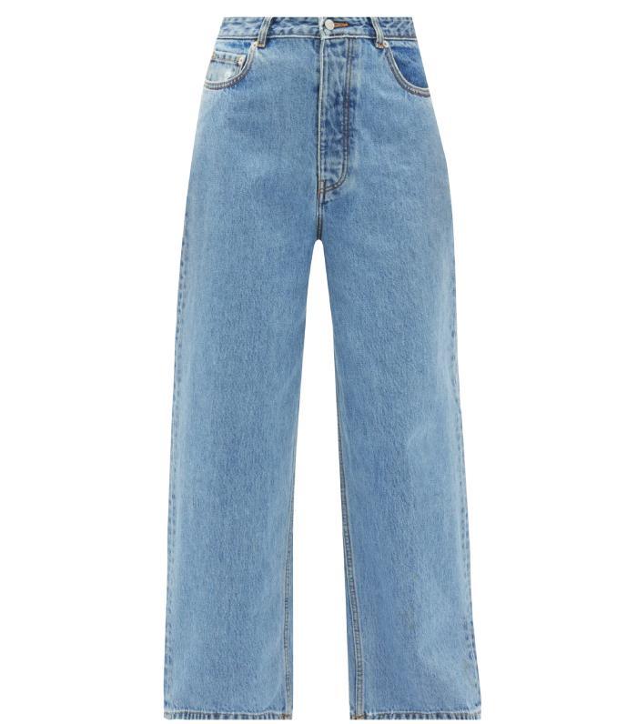 Ganni Washed Denim Loose Fit Jeans