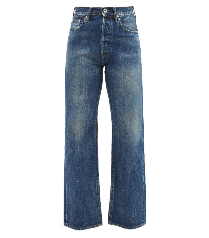 Chimala High-Rise Washed Cotton Cropped-Leg Jeans