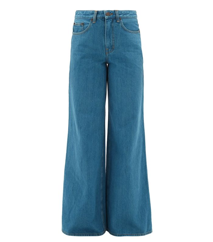 The Row Issa Wide-Leg Selvedge-Denim Jeans