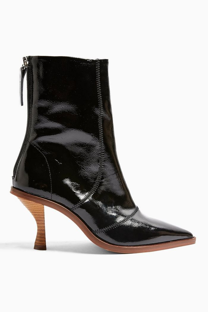 Topshop Madison Black Pointed Leather Boots