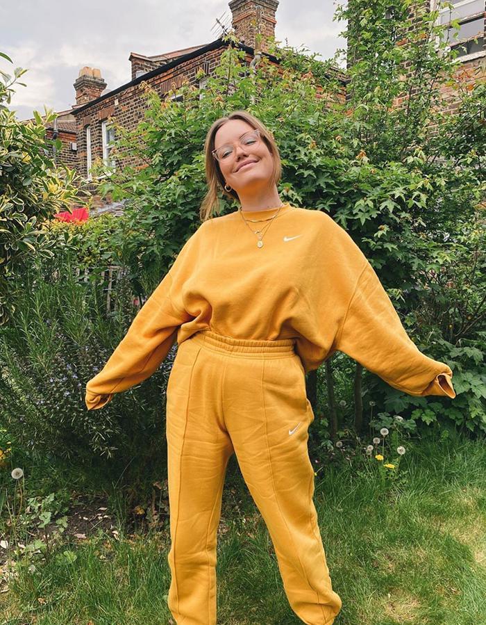 Nike fashion items: yellow tracksuit