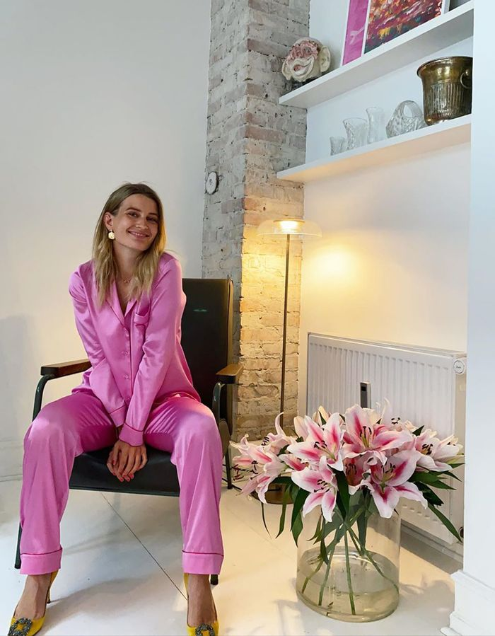 Colourful outfit ideas: pink pyjamas