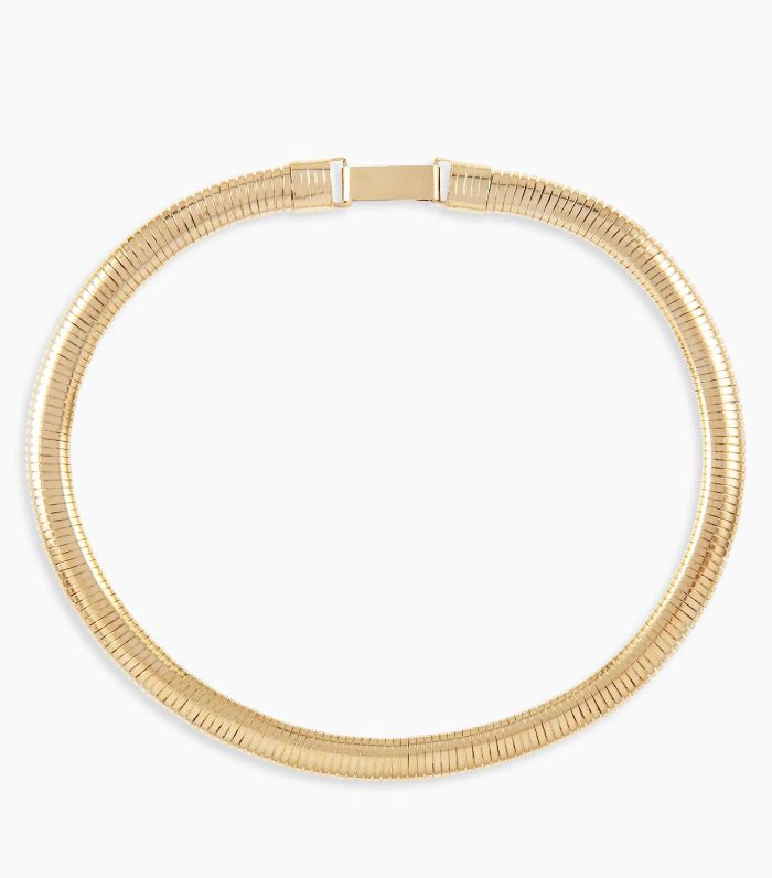 Susan Caplan Vintage Gold Plated Flexible Collar Necklace