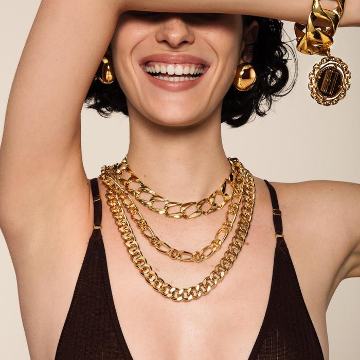 Susan Caplan Vintage 1990s Vintage Chain Link Necklace
