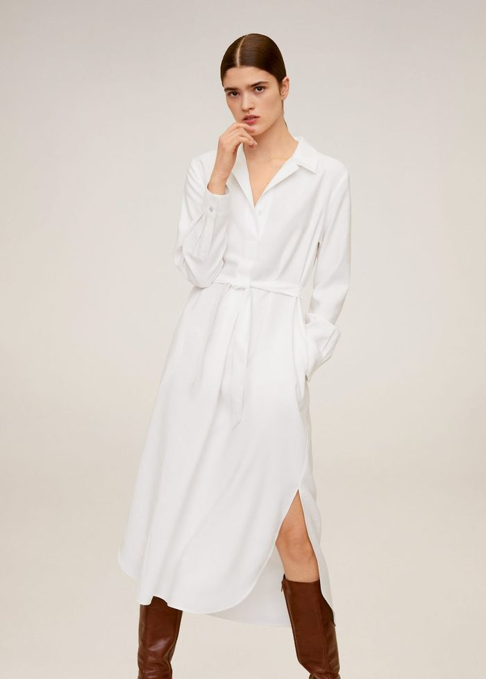 Mango Midi Shirt Dress