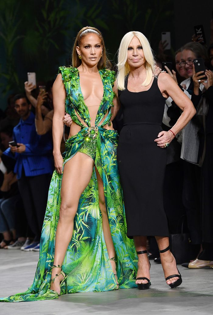 Jennifer Lopez Versace dress:
