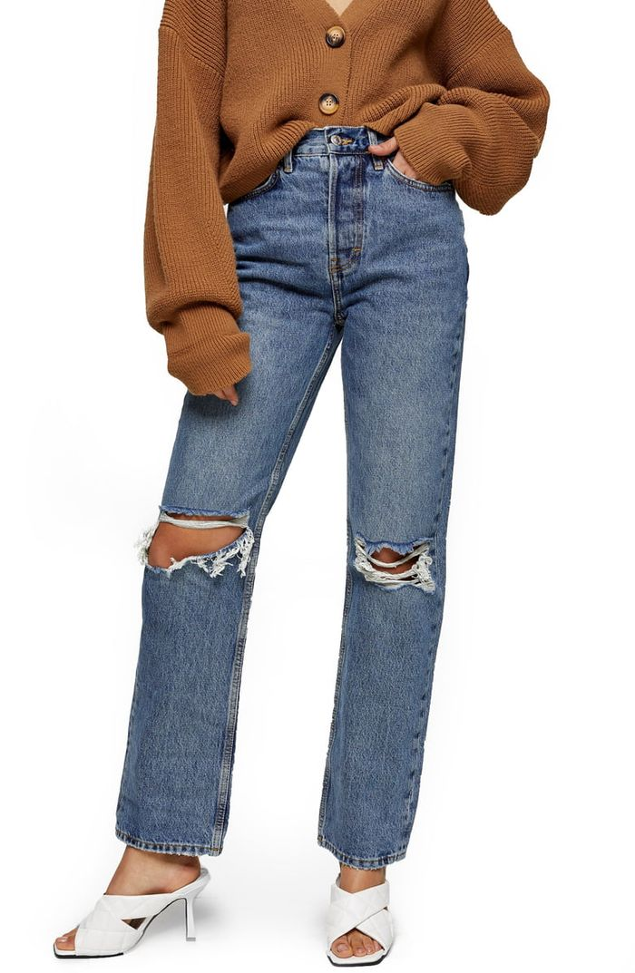 Topshop Ripped Dad Jeans