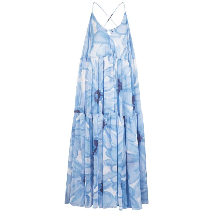 Jacquemus La Robe Mistral Printed Georgette Maxi Dress