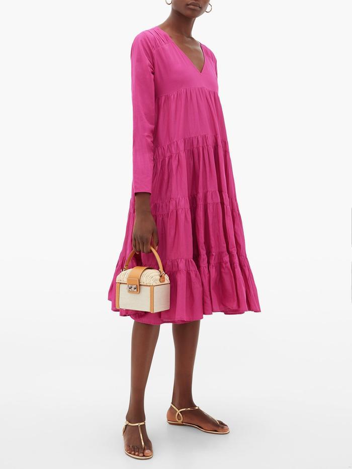 Merlette Rodas Tiered Pima-Cotton Dress