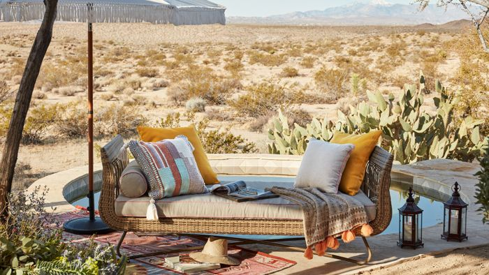 Free Virtual Zoom Backgrounds | Who What Wear on Belham Living Lilianna Outdoor Daybed id=42225