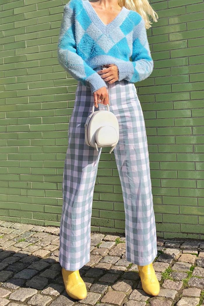 Checked trousers trend