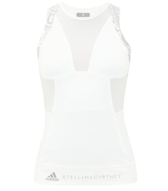 Adidas by Stella McCartney Python-Print Mesh-Panelled Tank Top
