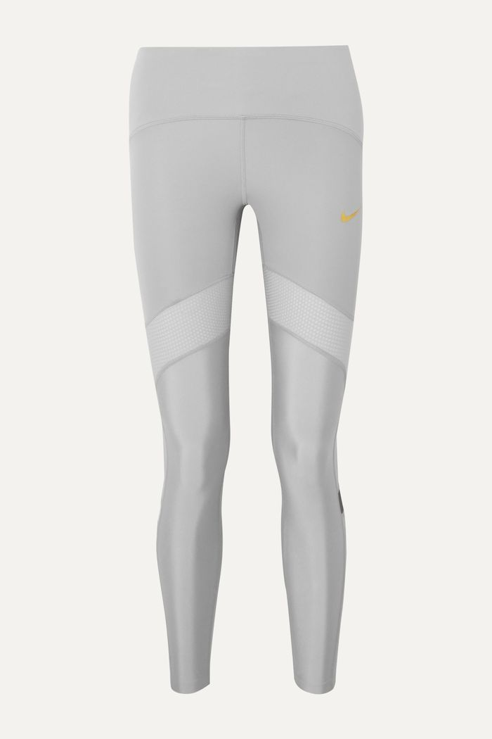 Nike Glam Dunk Speed Mesh-Trimmed Dri-FIT Leggings