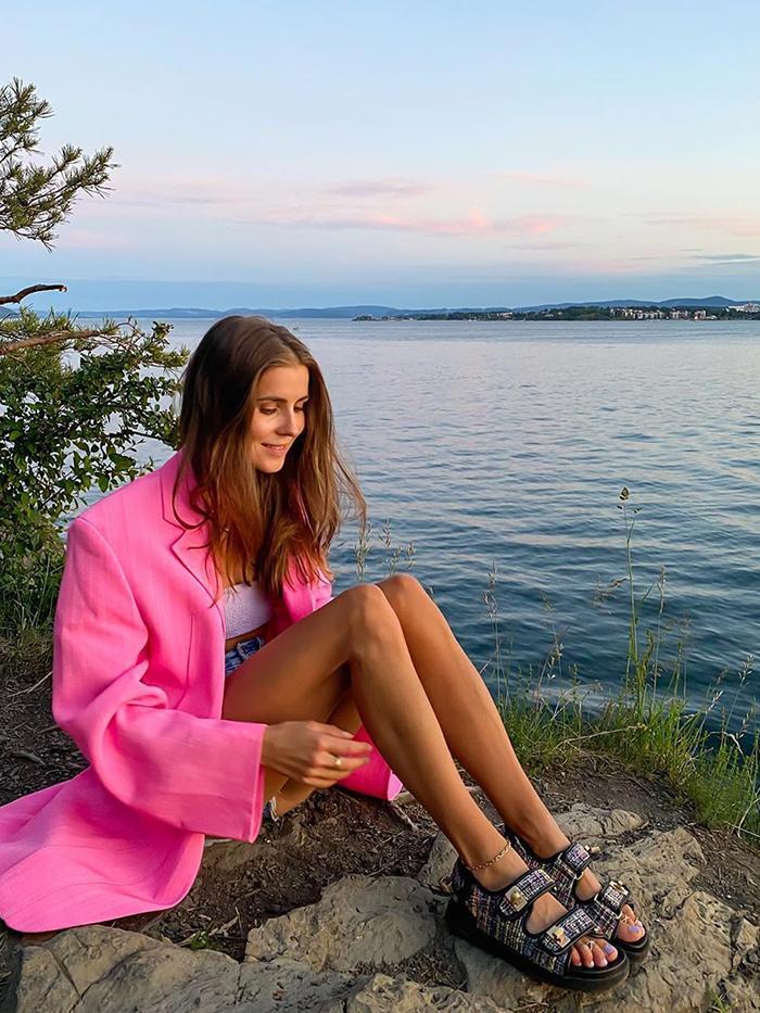 Pink Blazers Summer Trend: Nina Sandbech
