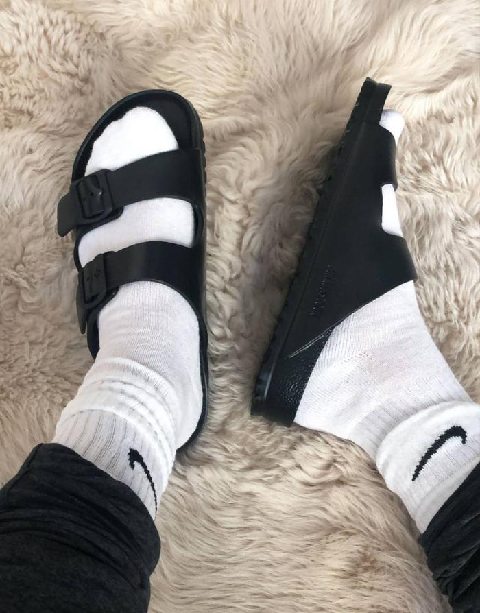 How to wear Birkenstocks with socks