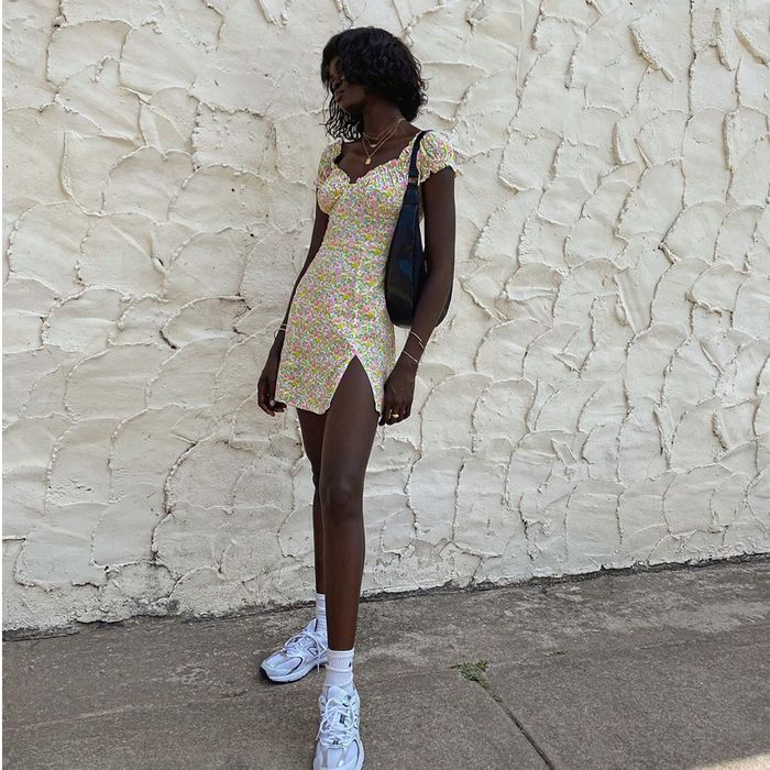 Casual dress with sneakers