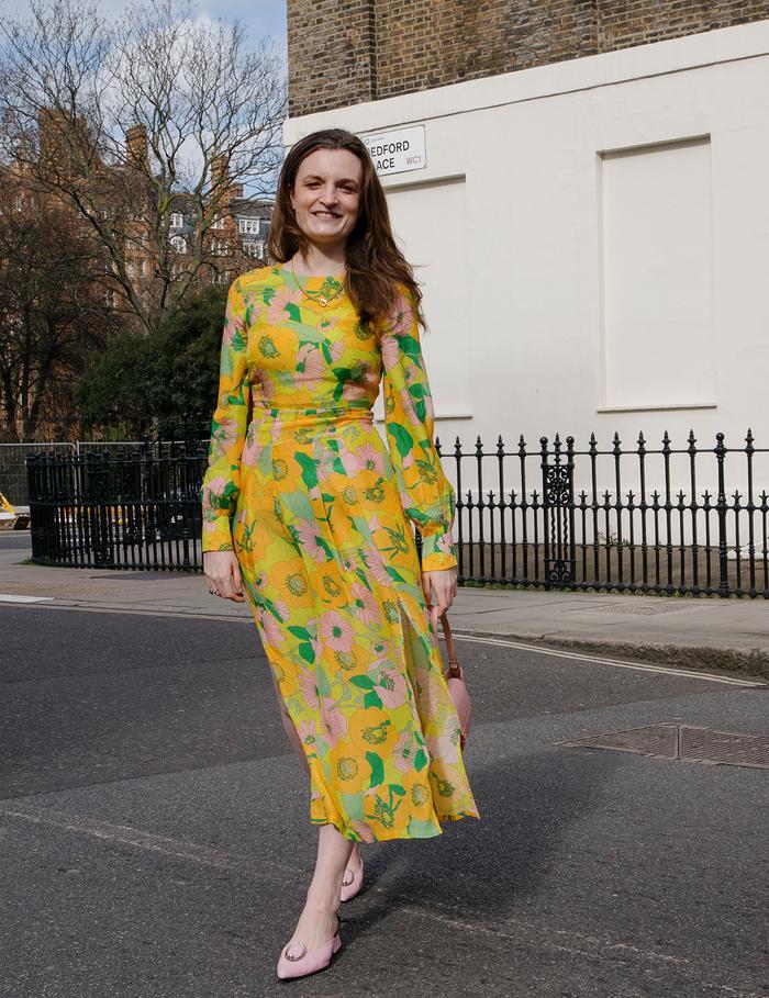 Emma Spedding wedding guest dresses: