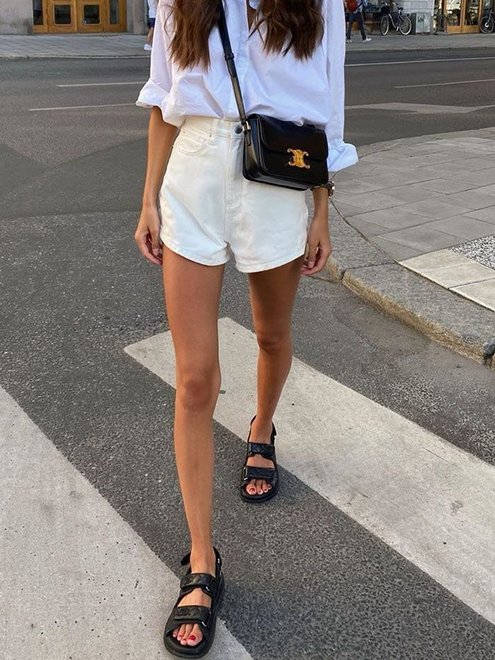17 Outfits To Wear With Chunky Sandals Who What Wear