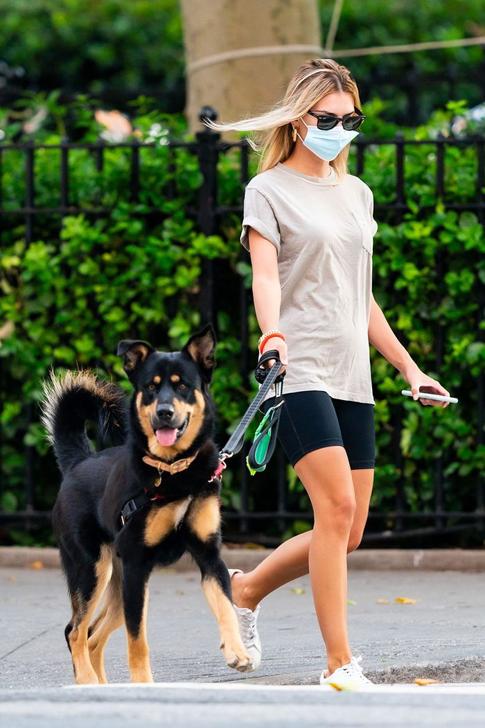 Emily Ratajkowski bike shorts