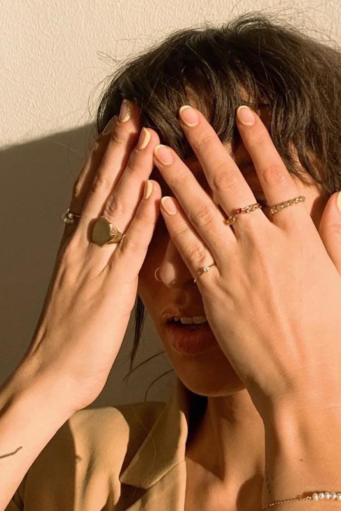 Minimalist Nail Art: Caitlin Miyako Taylor nails
