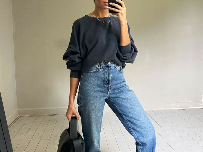Jeans and Sweatshirt Outfit