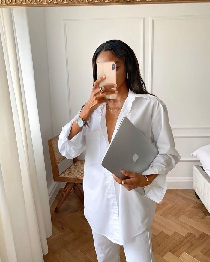 The best loungewear trend: oversized shirt