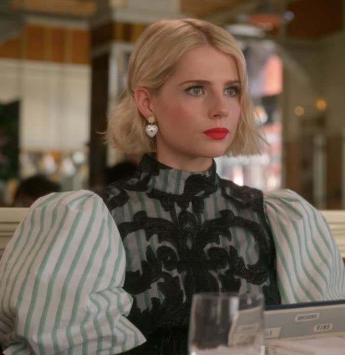 Lucy Boynton The Politician outfits