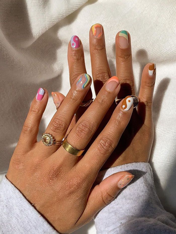 5 Easy Nail Art Ideas You Can Do At Home Who What Wear