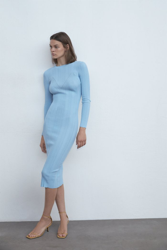 Zara Ribbed Knit Dress