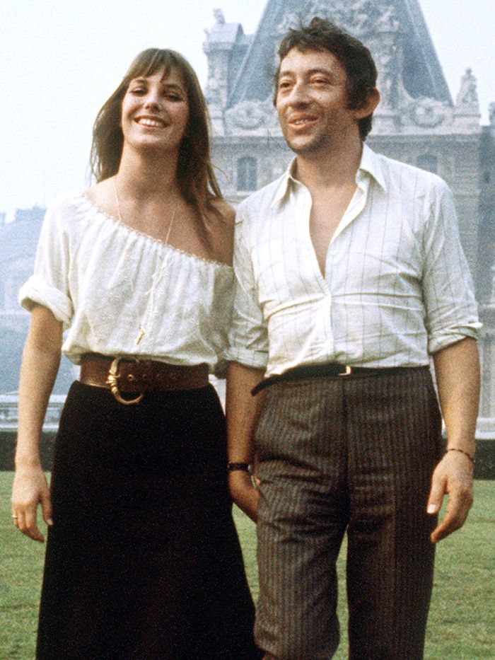 jane birkin blouse: jane birkin and serge gainsbourg