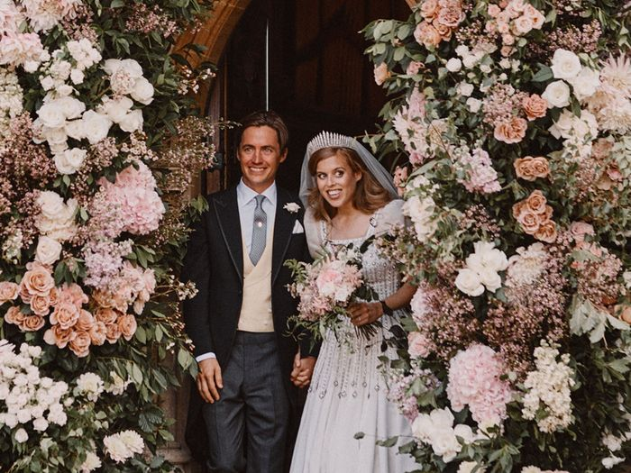 Princess Beatrice Just Got Married In a Vintage Dress Belonging to the Queen