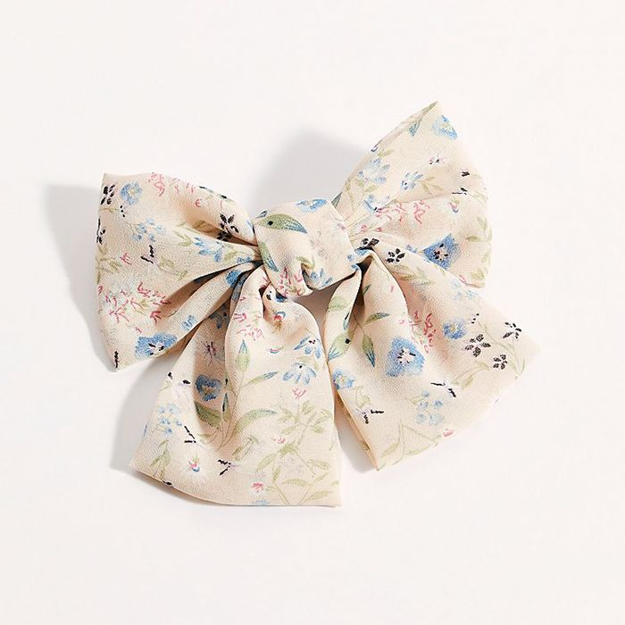 Free People Floral Bow Barrette