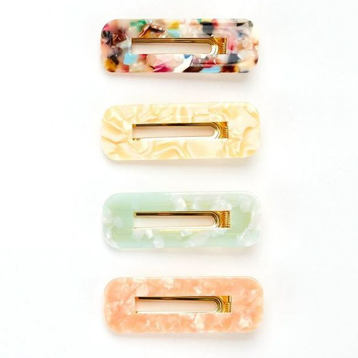 V by Very Resin Hair Clips Set of Four