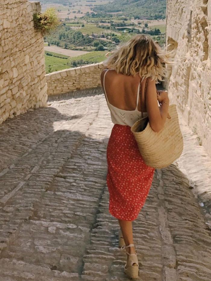 Summer midi skirts: Slip skirt