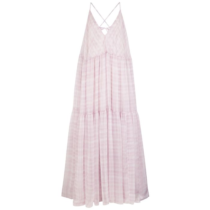 Jacquemus La Robe Mistral Checked Georgette Maxi Dress