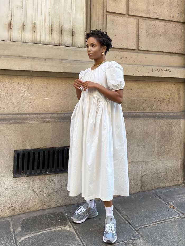 dress with trainers outfits: slip into style
