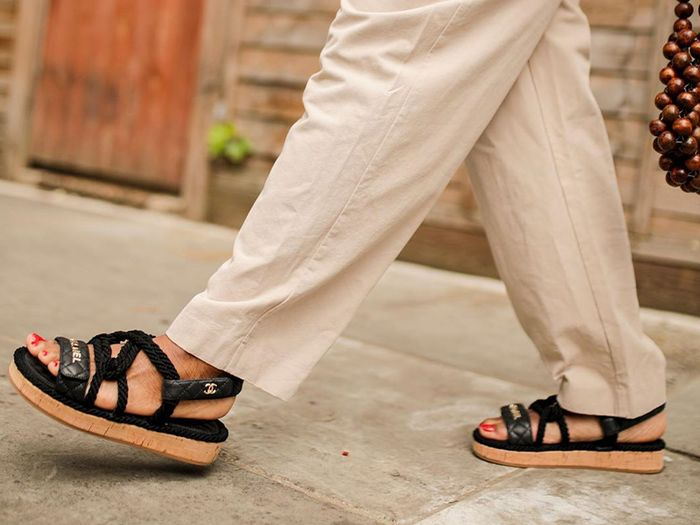 These Chanel Sandals Are Almost Too Beautiful to Wear
