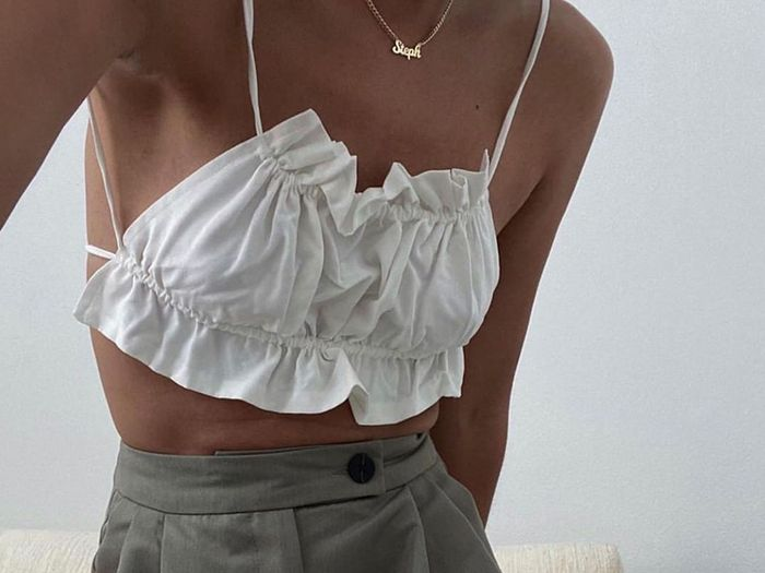 """Napkin Tops"" Are the Risky Trend Fashion People Are Actually Pulling Off"