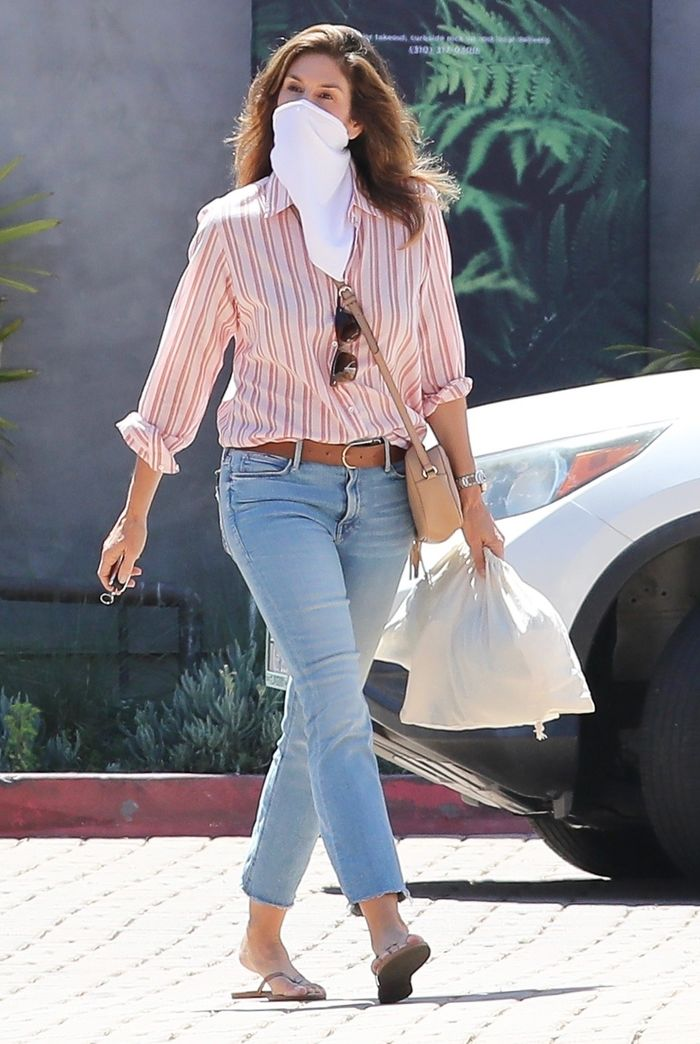 Cindy Crawford's skinny jeans by Mother